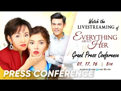 [FULL] 'Everything About Her' Grand Press Conference | Angel Locsin, Xian Lim, Ms. Vilma Santos