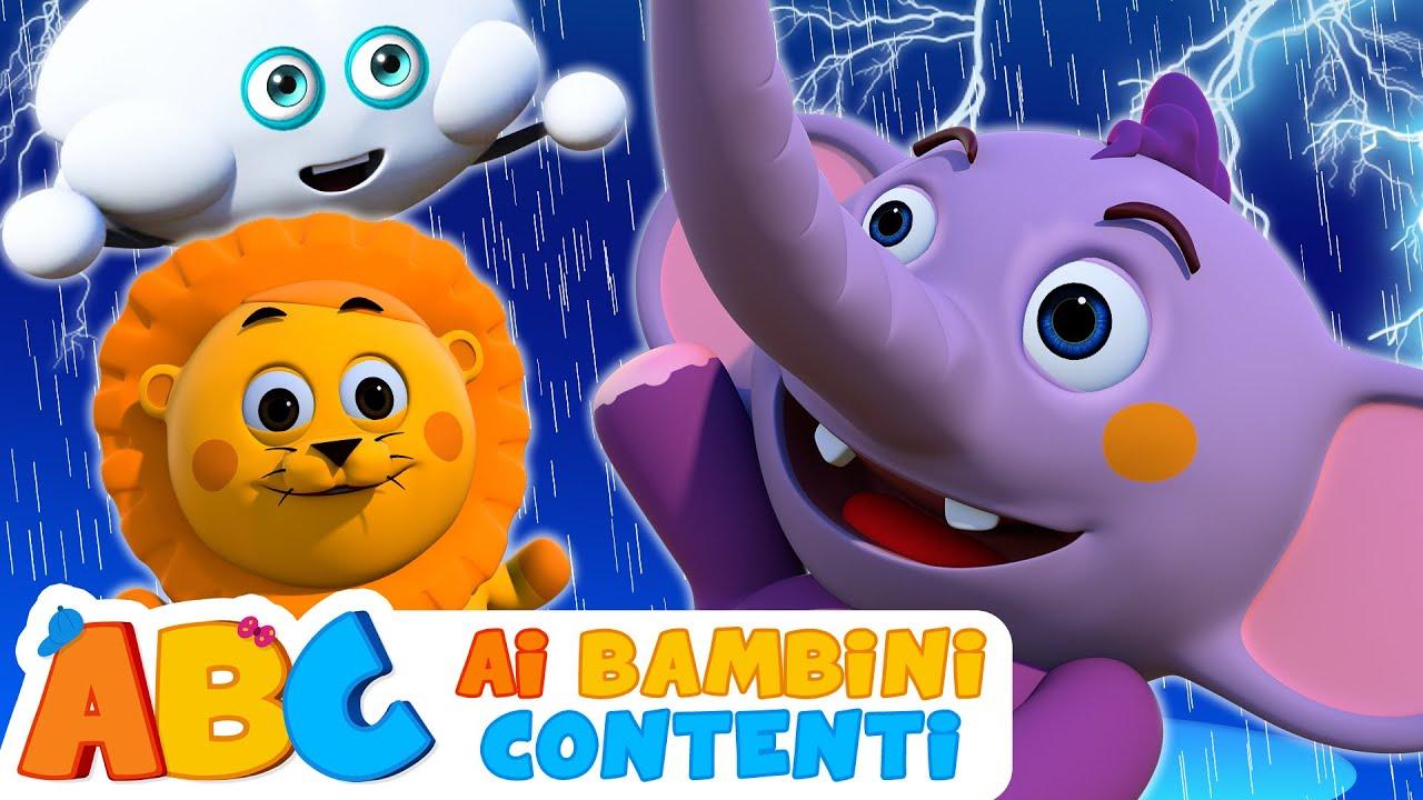 Pioggia pioggia canzoni per bimbi in italiano cartoni animati