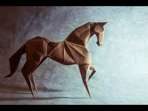 Origami Horse By Hideo Komatsu Youtube
