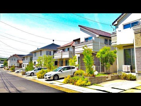 【4K】Modern Japanese Houses / Neighborhood Walking Tour in Japan (Meito-ku Nagoya)