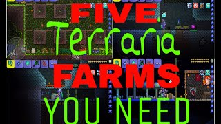 5 TERRARIA FARMS THAT YOU NEED/WANT!!