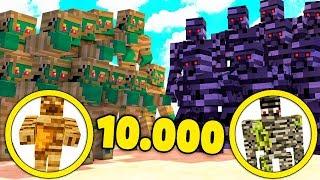 10000 MUMIEN VS 10000 GOLEM MUTANTEN