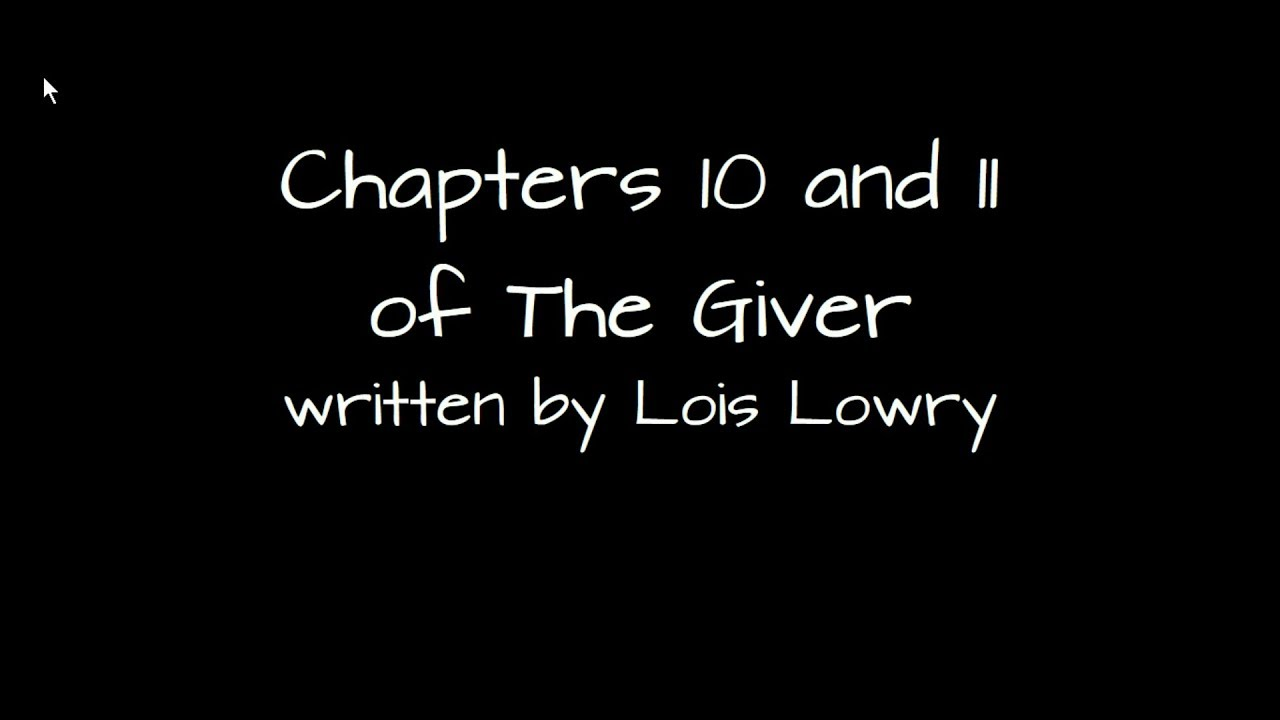 the giver book summary