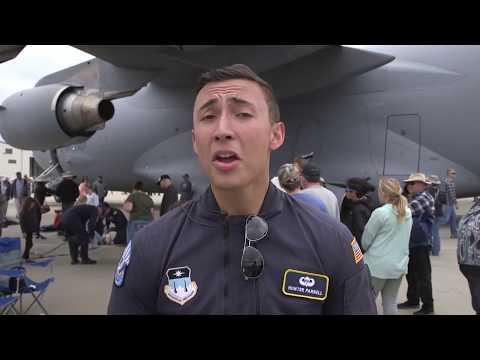 Air Force Parachute team showcases precision jump skills,BEALE AIR FORCE BASE,UNITED STATES,04.28.18
