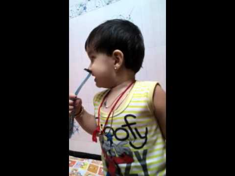 The jungle book hindi song by 2 years cute baby