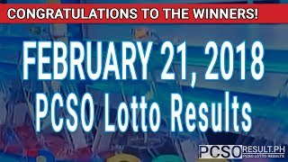 PCSO Lotto Results Today February 21, 2018 (6/55, 6/45, 4D, Swertres, STL & EZ2)