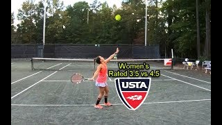 Women's NTRP 3.5 vs 4.5 Singles – Judy vs Carol
