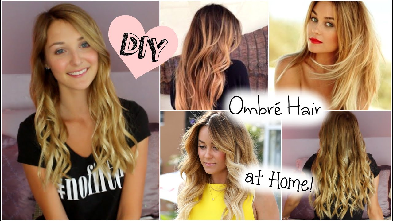 Diy ombr hair at home blonde to ombr youtube solutioingenieria Choice Image