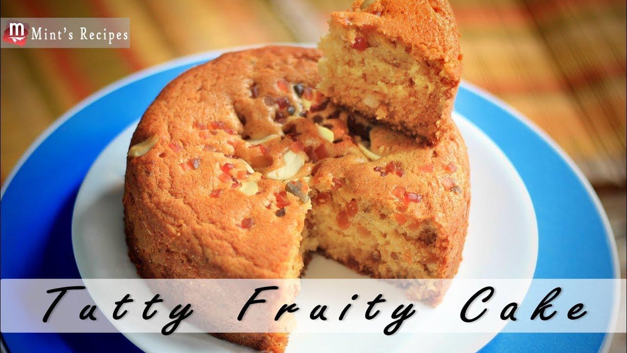Eggless Cake Recipe In Pressure Cooker In Telugu: Tutti Fruity Cake Without Oven