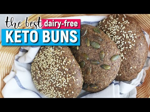 KETO Dairy-free BUNS | LOW CARB BUNS WITH WITH PSYLLIUM HUSK | Easy KETO Recipes