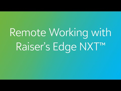 Remote Working with Raiser's Edge NXT