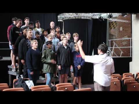 Chór z RPA, Clifton College Choir, Durban visiting Poland. Here in St. John's church in Gdańsk