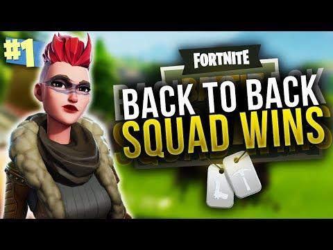 SQUAD GOALS... Back To Back Wins! (Fortnite)