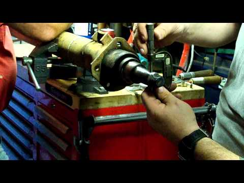 Repairing a damaged trailer axle spindle Part 1