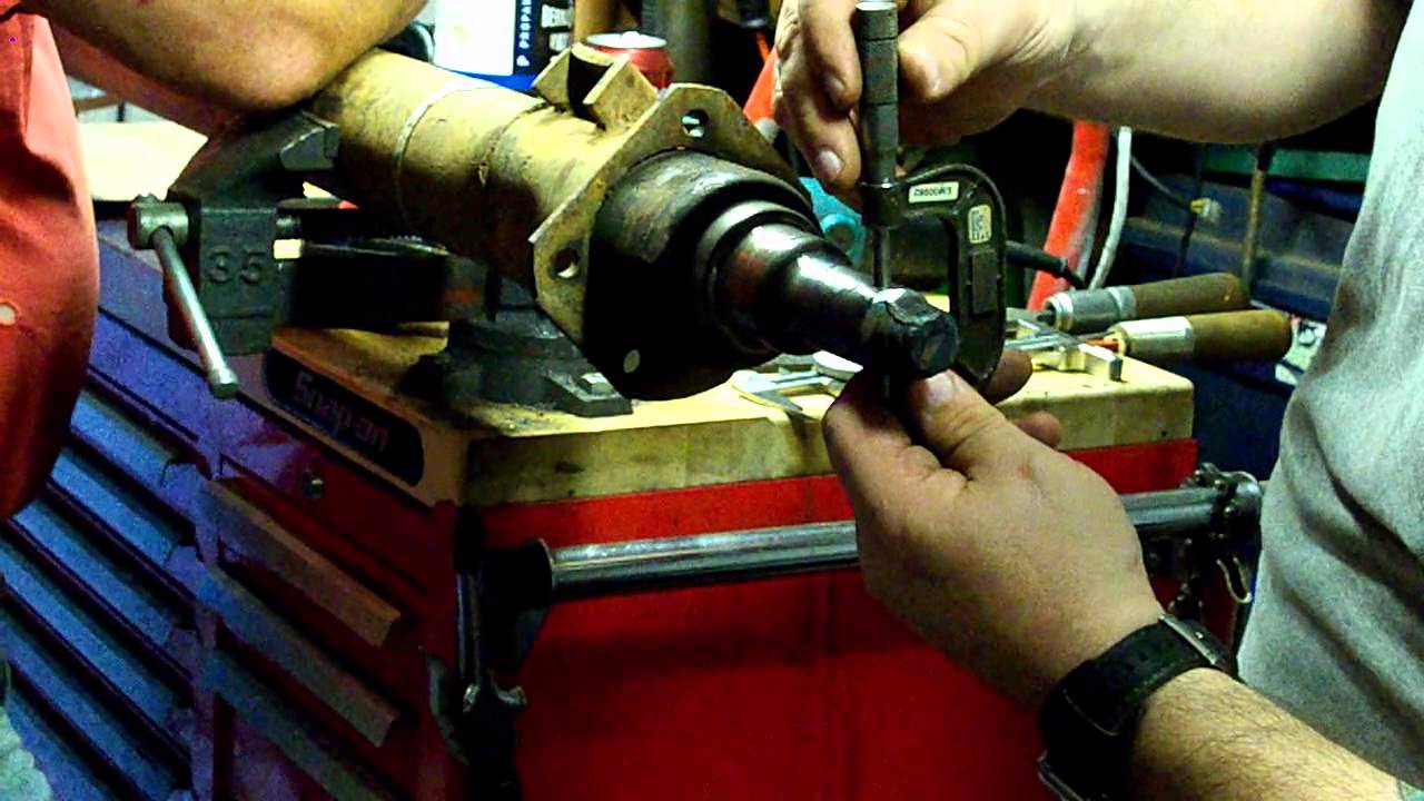 Weld On Axle Spindle >> Repairing a damaged trailer axle spindle Part 1 - YouTube