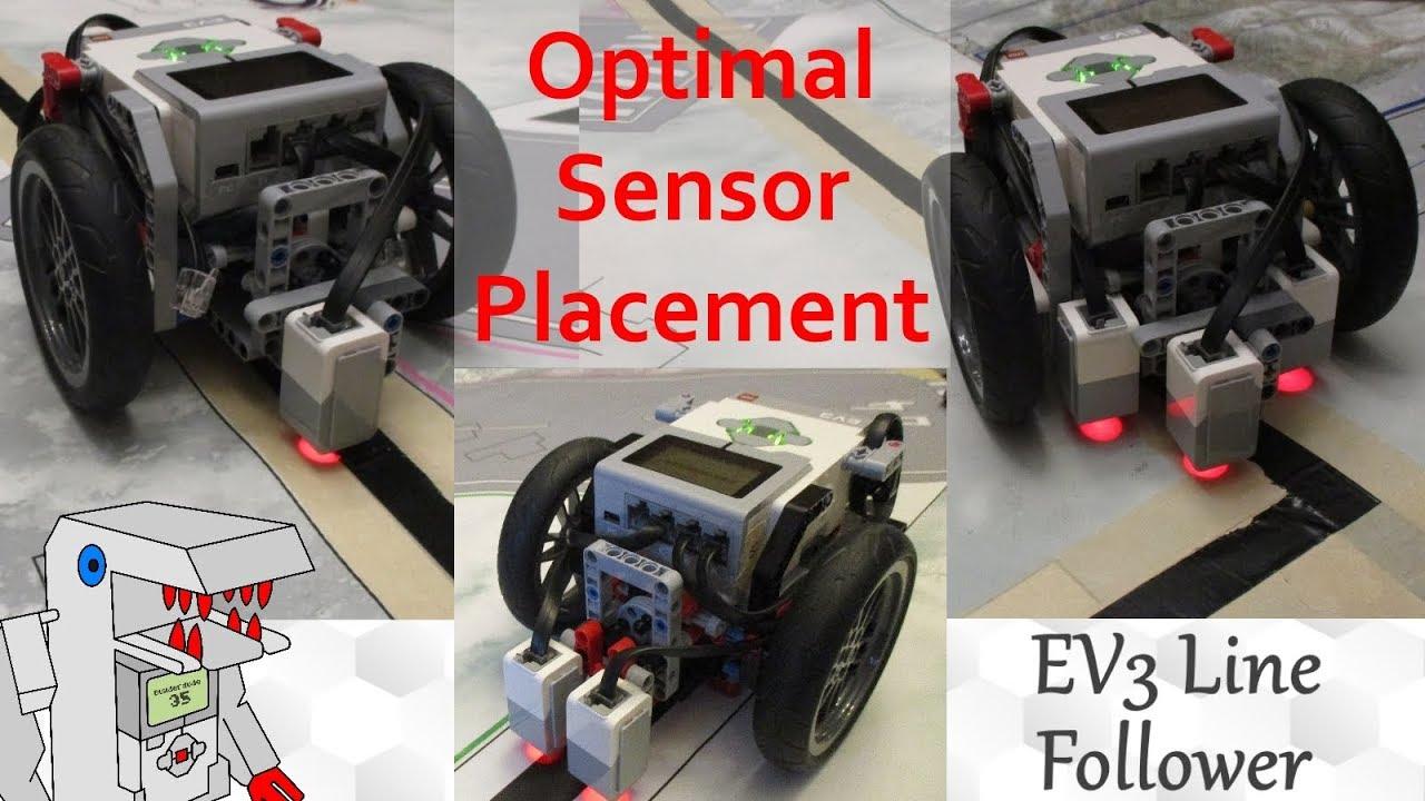 The Optimal Color Sensor Placement for EV3 Line Followers