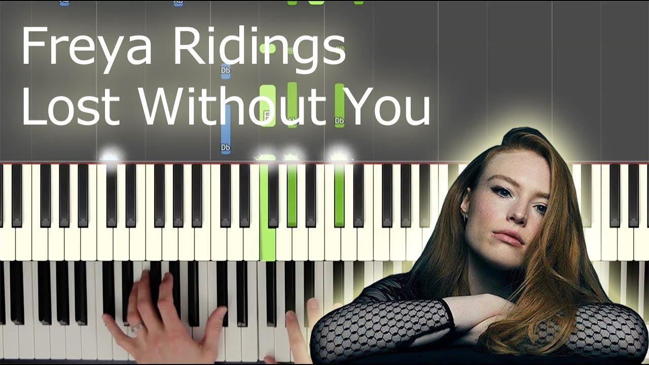 Lost Without You (Freya Ridings) - Complete Piano Part (and hands separately) image