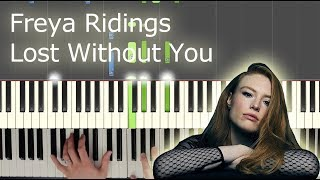 Lost Without You (Freya Ridings) - Complete Piano Part (and hands separately) Video