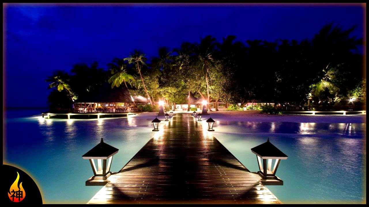 Tropical Island Beach Ambience Sound: 1 Hour Nighttime Sounds