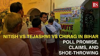 Nitish vs Tejashwi vs Chirag in Bihar: Poll promise, claims & shoe-throwing