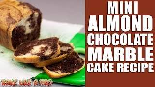 Mini Almond Chocolate Marble Cake Recipe