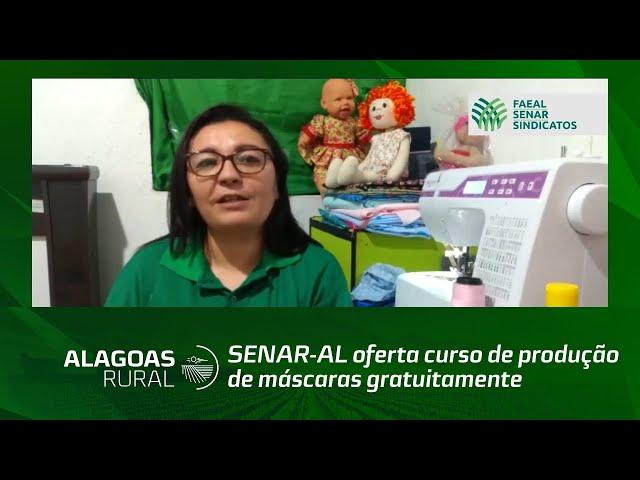 SENAR-AL oferta curso de produção de máscaras gratuitamente