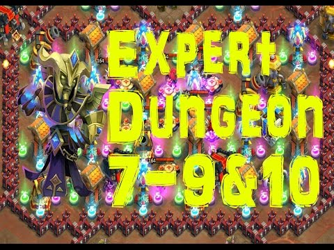 Castle Clash (expert) Dungeon 7 9 & 10