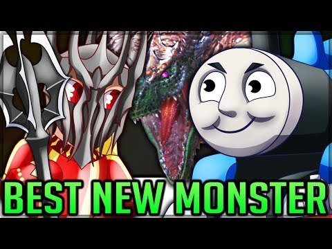TERRIFYING NEW MONSTER - Best New Crossover Weapon + Pro and Noob - Monster Hunter World PC Mods!