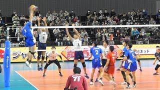 洛南高校 vs 市立尼崎高校 1セット目 春高バレー2019男子準決勝