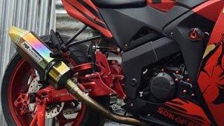 Gantengnya Modifikasi Honda CBR 150 R Full Aksesoris Merah