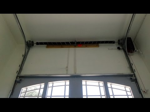 High Lift Garage Door Track System Demo