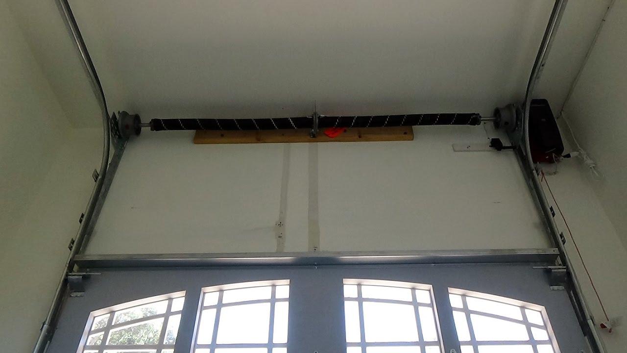 High Lift Garage Door Track System Demo  YouTube