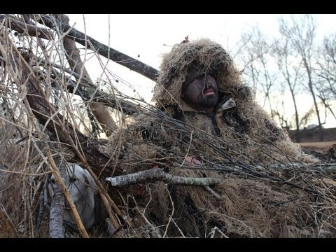 Lone Star Life: Texas Duck Hunting - Ghillie Suit Duck Hunt -- On The River With Salty & Pete