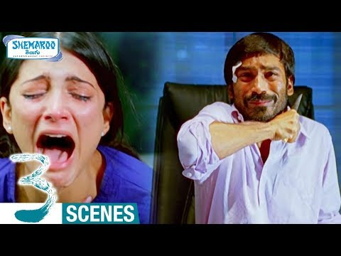 Dhanush Best Performance Ever  Dhanush Ends Life  3 Telugu Movie Climax Scene  Shruti Haasan