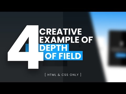 CSS Depth Of Field   4 Creative Example Using Html & CSS Only
