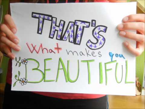 One Direction - What makes you beautiful (Paper lyrics)