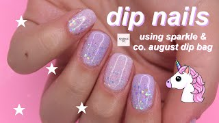 sparkle & co. august dip powder bag review!