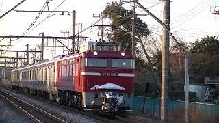EF81‐140号機牽引 E531系K456編成AT出場 吹上~行田間通過
