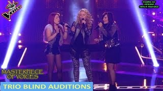 AMAZING TRIO BLIND AUDITIONS IN THE VOICE