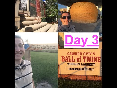 Day 3: Things to do in Kansas City, Visit The Center of the USA and World's Largest Ball of Twine US