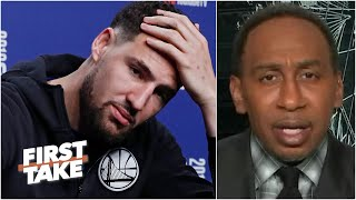 Stephen A. reacts to Klay Thompson's season-ending Achilles injury | First Take