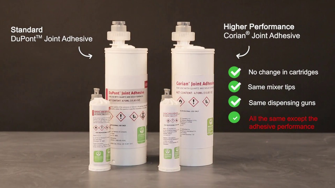 New Corian Joint Adhesive For Solid Surface And Quartz Surfaces 2018