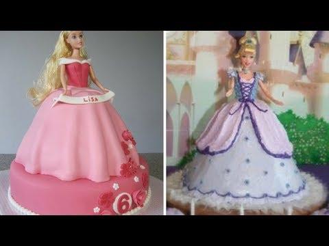 Топ 5 украшений тортов в форме куклы Барби