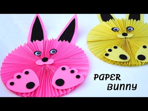 DIY Paper Bunny 🐰 Paper Rabbit Tutorial 🖍 Easy Crafts for School Projects