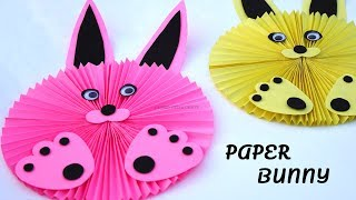 DIY Paper Bunny  Paper Rabbit Tutorial  Easy Crafts for School Projects