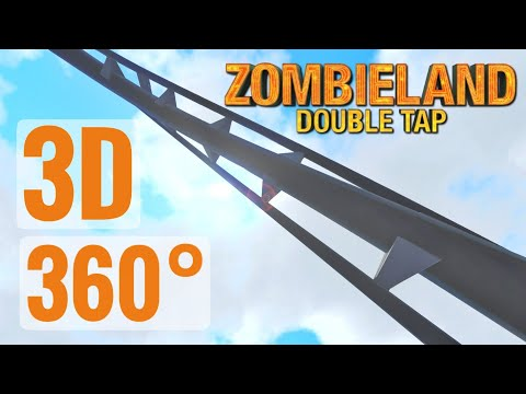 3D VR 360 video Halloween Zombieland 2 Roller Coaster PSVR 360° 4K
