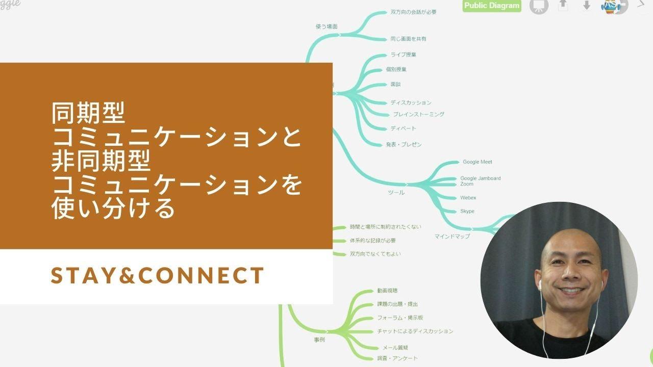 オンライン授業において同期型コミュニケーションと非同期型コミュニケーションを使い分ける。