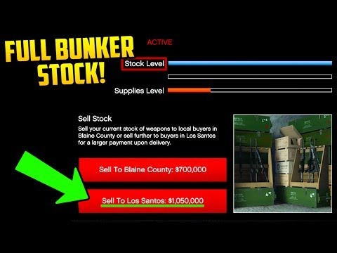 WHAT A FULL BUNKER STOCK SELLS FOR & LOOKS LIKE! (GTA Online Gun Running)