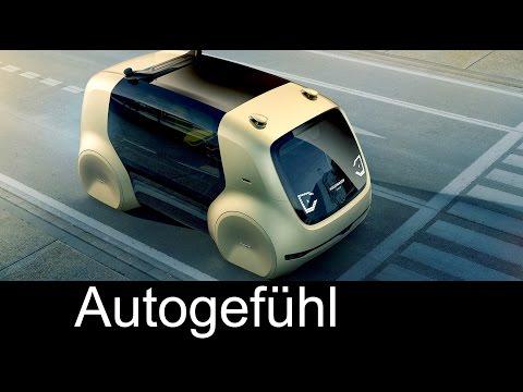 VW Sedric Self-Driving-Car electric autonomous vehicle Concept Preview Exterior/Interior