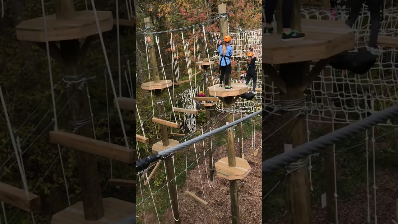 Trout Lake Minnesota High Ropes Course Youtube